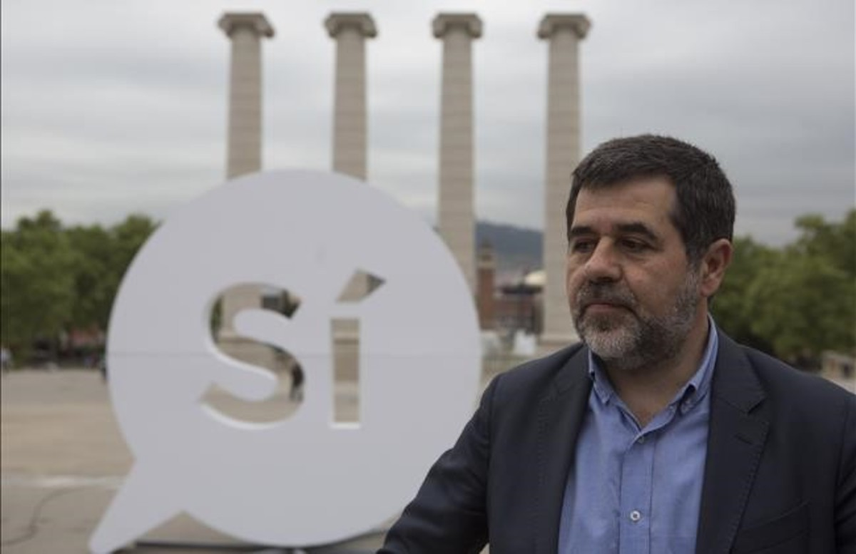 El presidente de la ANC, Jordi Sànchez, en una imagen del pasado abril.