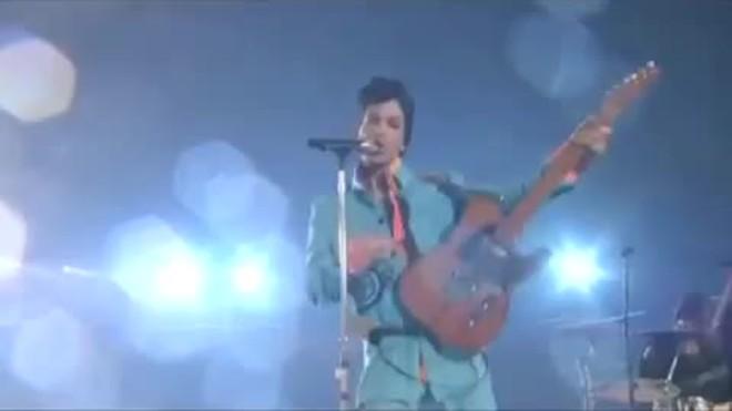 Prince. Su actuación en la Super Bowl del 2007
