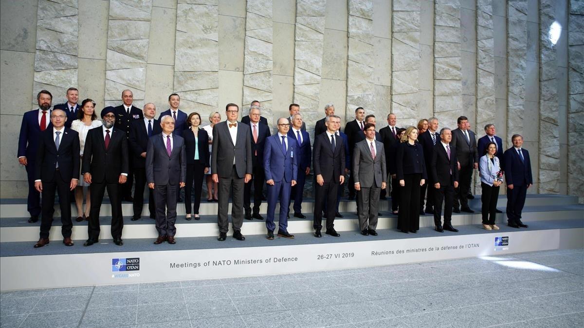 Reunión de los ministros de Defensa de la OTAN, este miércoles en Bruselas.