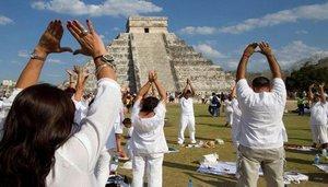 Rituales del equinoccion de primavera en México.