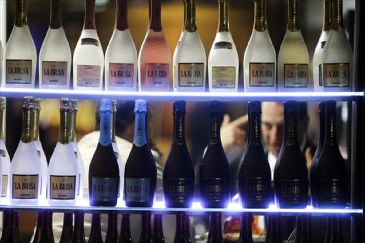 Bebidas en un estand de la feria Alimentaria del 2016.