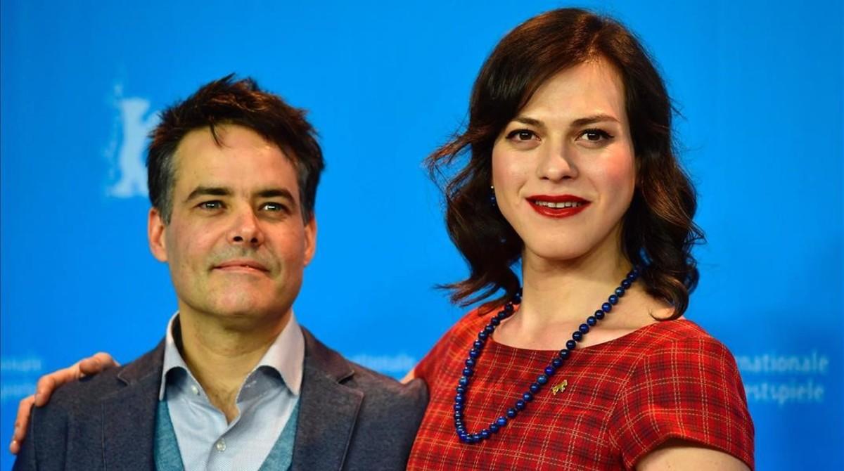 Sebastián Lelio y Paloma Vega, en Berlín.