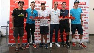 Esteban Chaves, Miguel Ángel López, Nairo Quintana, Alejandro Valverde, Primoz Roglic y Jakob Fuglsang, favoritos de la carrera.