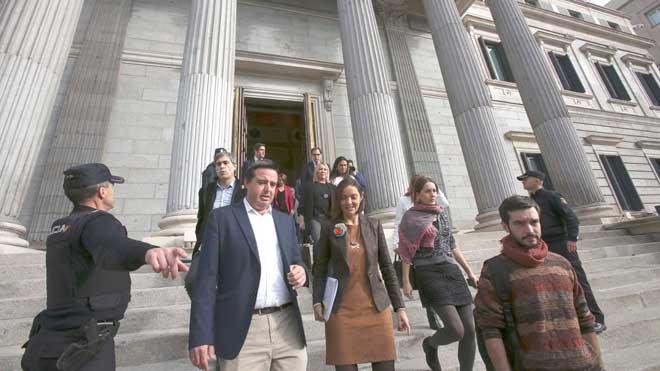Simulacro de evacuación en el Congreso de los Diputados.