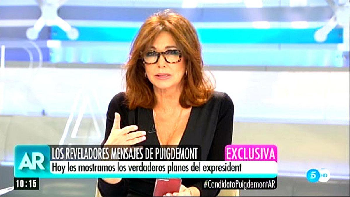 Ana Rosa i els missatges de Puigdemont. (T-5)