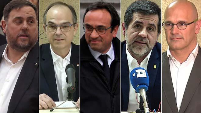El Supremo permite a los presos electos salir el lunes a recoger sus actas de parlamentarios.