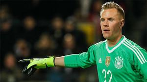 Ter Stegen en un partido con la selección alemana.