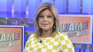 Terelu Campos, presentadora de ¡Qué tiempo tan feliz! y de Sálvame, ambos de Tele 5..