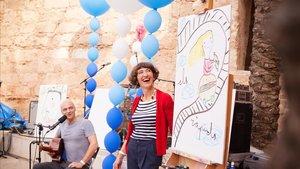 El músico Marc Parrot y su mujer, la ilustradora Eva Armisén, autores e intérpretes de Tinc un paper.