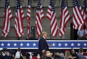 El presidente de los EEUU, Donald Trump, en la celebración del 4 de julio.