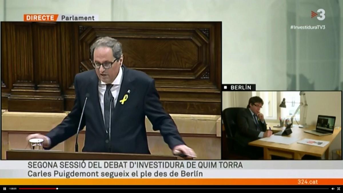TV3 ofrece imágenes de Carles Puigdemont desde Berlín.