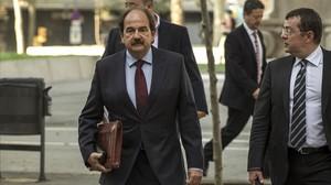 Xavier Crespo, exalcalde de Lloret de Mar, acude a declarar al Tribunal Superior de Justícia de Catalunya, el 30 de junio del 2015.
