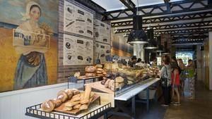 Mostrador del Baluard en el Hotel Praktik Bakery, en su apertura.