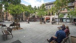 La plaza del Diamante, en el barrio de Gràcia.