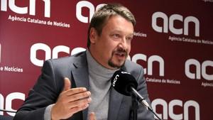 Domènech, este jueves durante su entrevista en ACN.