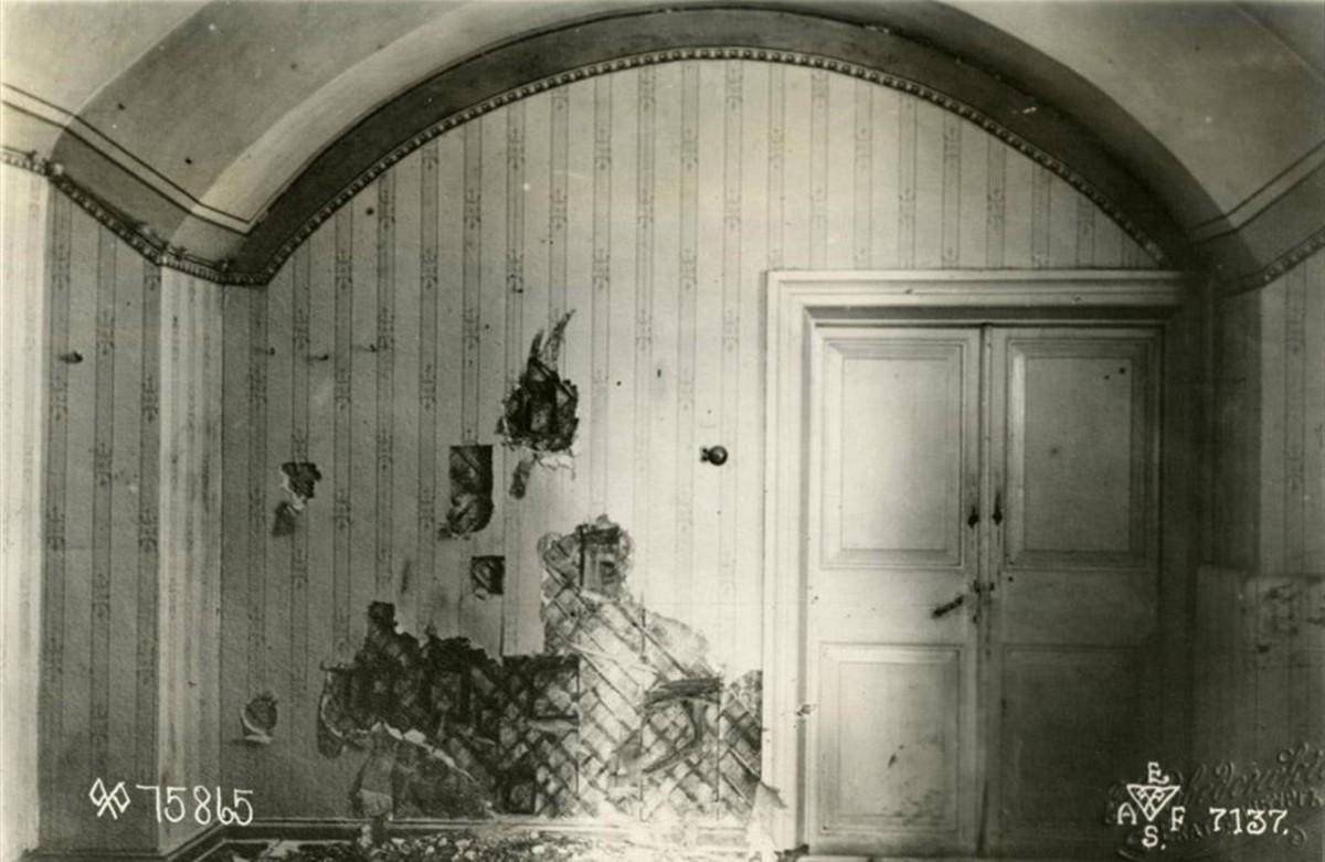 La habitación del sótano de la casa Ipátiev, en Ekaterimburgo, dondefueron ejecutadosel zar y su familia.