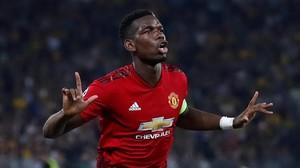 Paul Pogba celebra su primer gol frente al Young Boys.