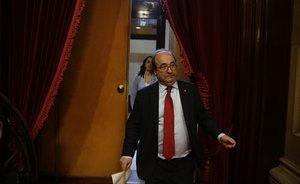Miquel Iceta e Inés Arrimadasse dirigen a una votación al Parlament.