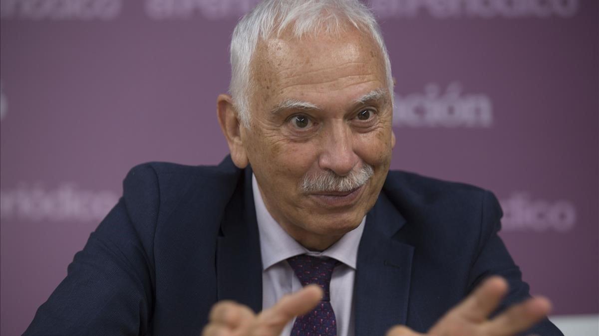 Antoni Gómez, durante la entrevista con El Periódico.