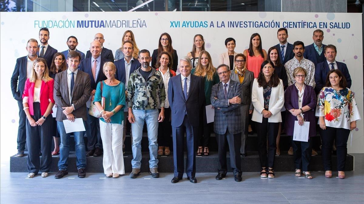 Imagen del acto de entrega de las ayudas a la investigación,celebrado en Madrid.