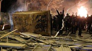 A presó 18 dels detinguts pels disturbis a Catalunya