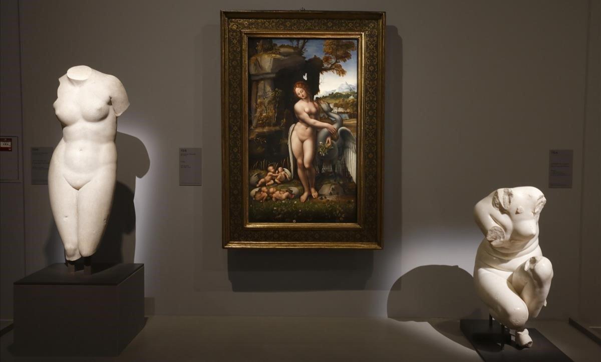 Una imagen de la muestra sobre Leonardo da Vinci en el Louvre.