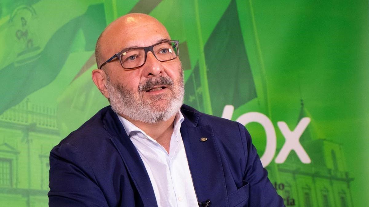 Alejandro Hernández, portavoz de Vox Andalucía en la Cámara autonómica.