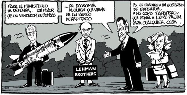 Viñeta de Ferreres en El Periódico (2.01.2012)