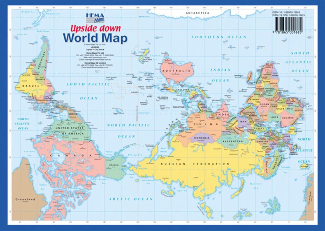 El mapamundi que sita australia en el centro del planeta australia en el centro del mundo en un mapa upside down gumiabroncs Choice Image