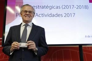 El presidente de la CNMV, Sebastián Albella, ayer en Madrid.