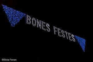 Luces de navidad, en Parets del Vallès.
