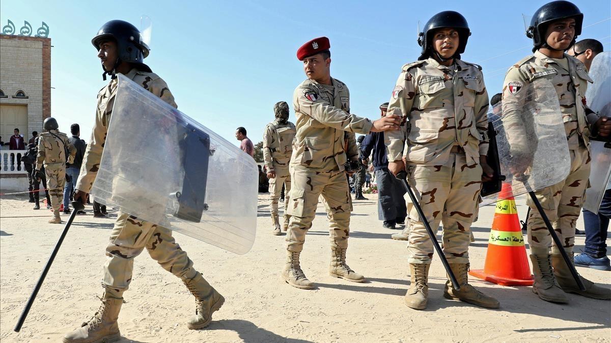 Fuerzas militares en el norte del Sinaí, el 1 de diciembre.