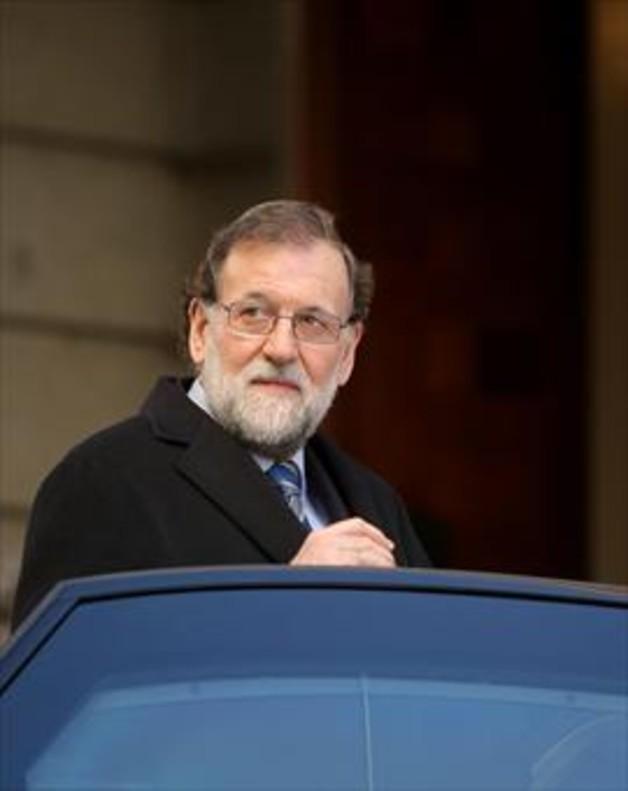 Mariano Rajoy, al abandonar el Congreso de los Diputados en un Pleno reciente.