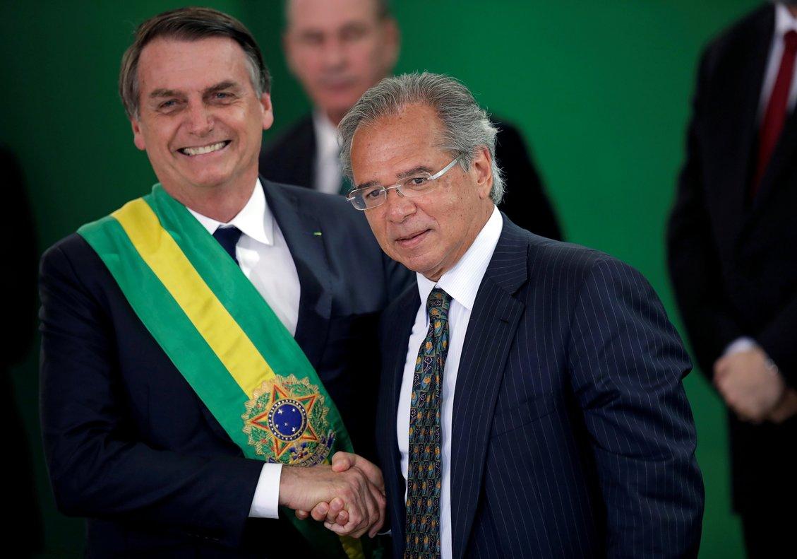Jair Bolsonaro y su ministro Paulo Guedes.