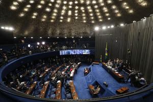El Senado brasileño durante el inicio del proceso del impeachment a Rousseff.
