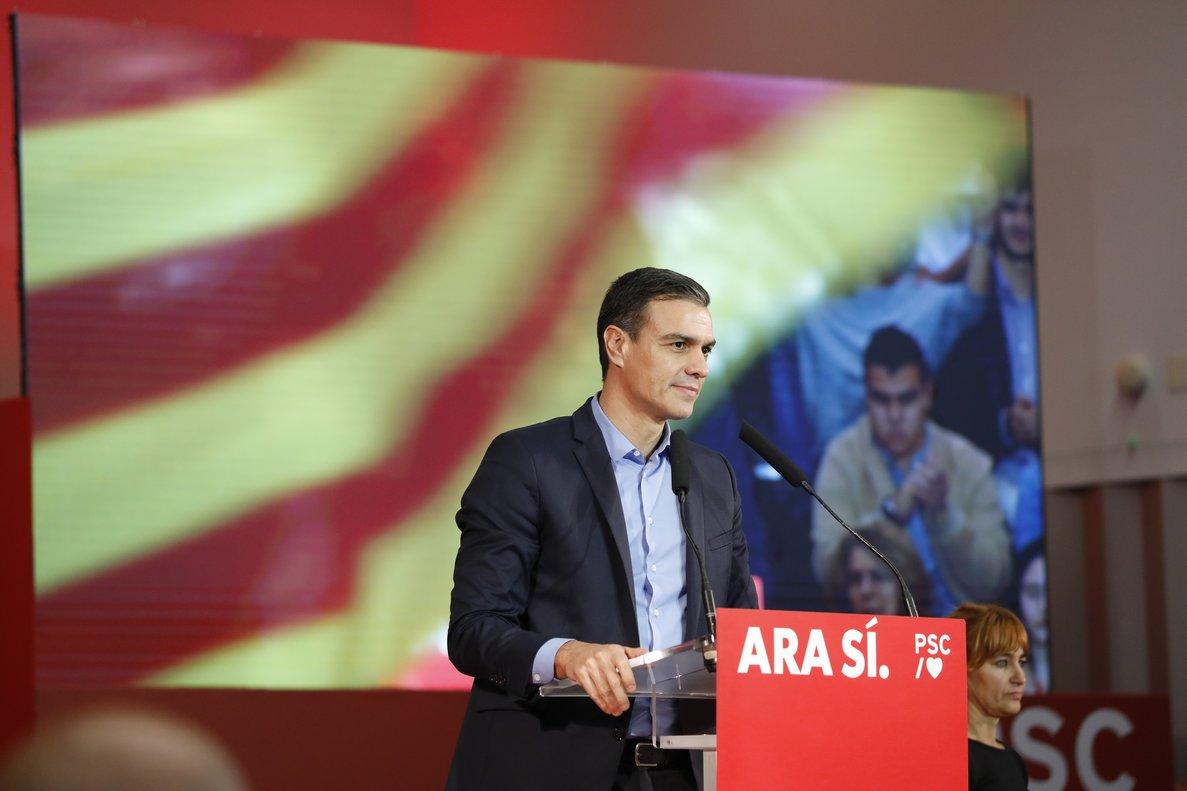 Pedro Sánchez apel·la a la «Catalunya oblidada»