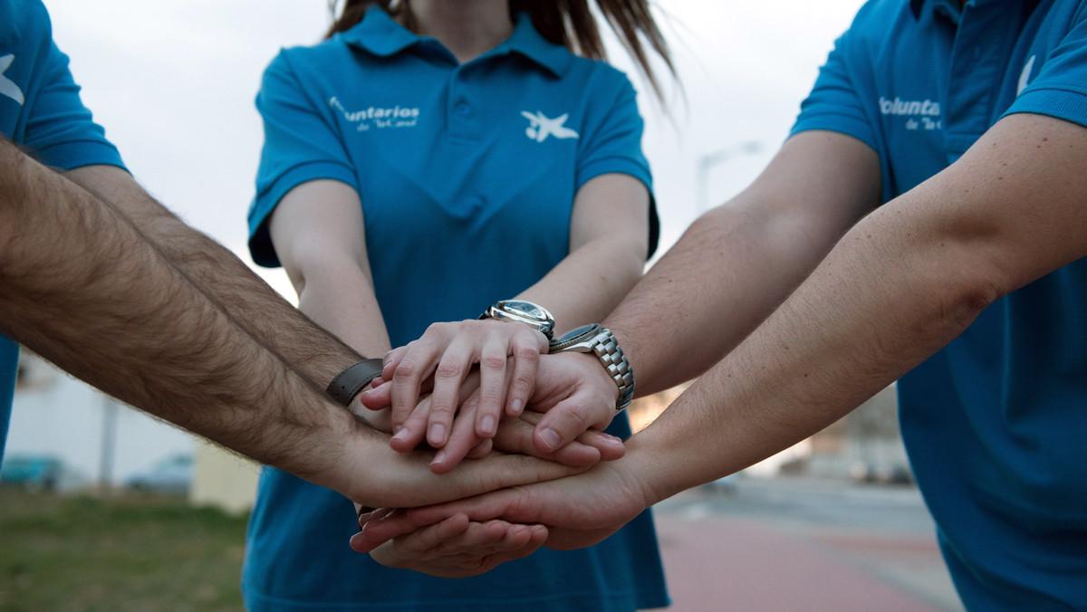 Actividad desarrollada por voluntarios de CaixaBank.