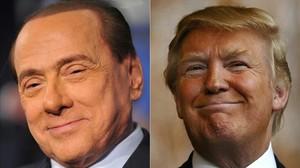 """Berlusconi veu """"similituds òbvies"""" entre ell i Trump"""