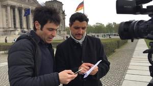 Andreu Jerez (a la izquierda) y Franco Delle Donne, en Berlín.