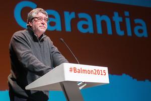 Antonio Balmón en el acto de presentación como candidato socialista a la alcaldía de Cornellà.