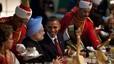 Obama, con el primer ministor de la India, Manmohan Singh, durante una cena en el palacio presidencial en Nueva Delhi, en noviembre del 2010.