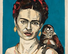 Frida Kahlo, en 'collage'