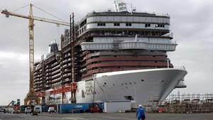 Un buque de los astilleros de Saint Nazaire.