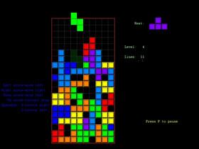Captura de la imagen del popular Tetris.
