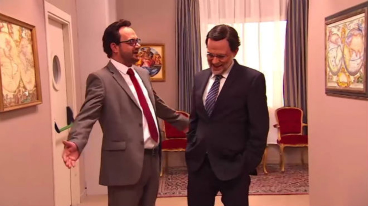 Captura de pantalla del gag sobre Antonio Hernando en 'Polònia'.
