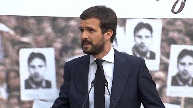 Casado lamenta que el70% del arco parlamentario vasco esté ocupado por PNV o Bildu