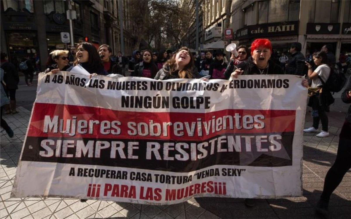 Protestas en Chile por la dictadura de Pinochet.