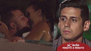 Christofer viendo las imágenes de la infidelidad de Fani con Rubén en 'La isla de las tentaciones'.