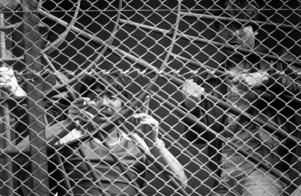 El Vaquilla, durante un secuestro de funcionarios para exigir heroína, en 1984.
