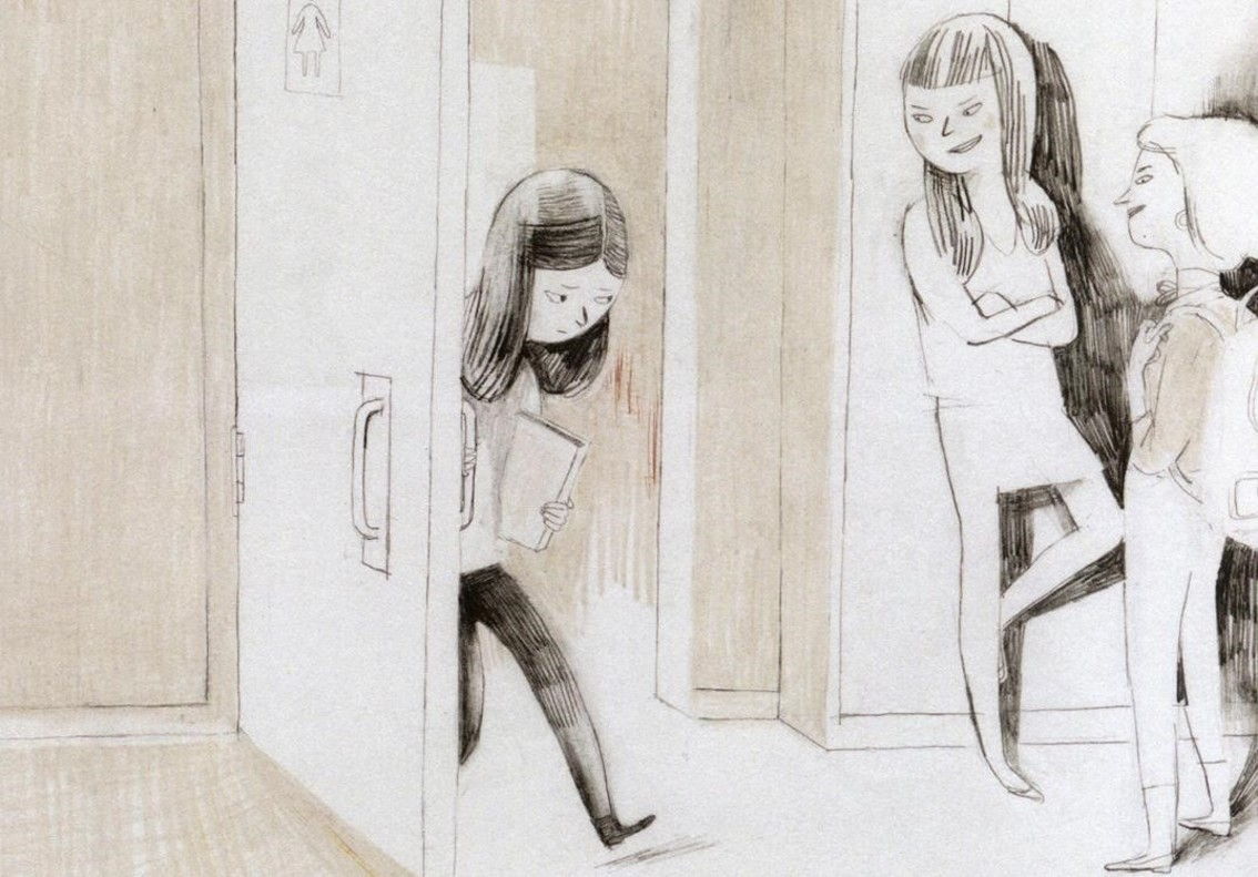 Viñeta del cómic Jane, el zorro & yo, de Fanny Britt e Isabelle Arsenault.